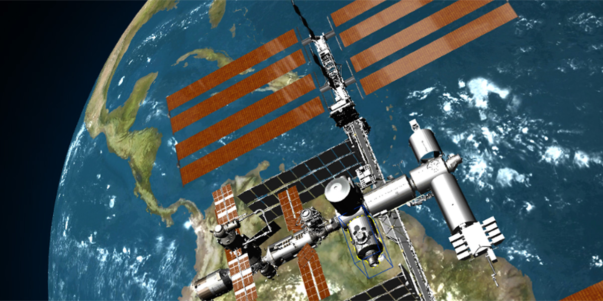Space station created with Maestro Designer 3D graphic software