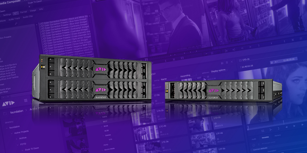Avid Nexis video storage hardware bundled