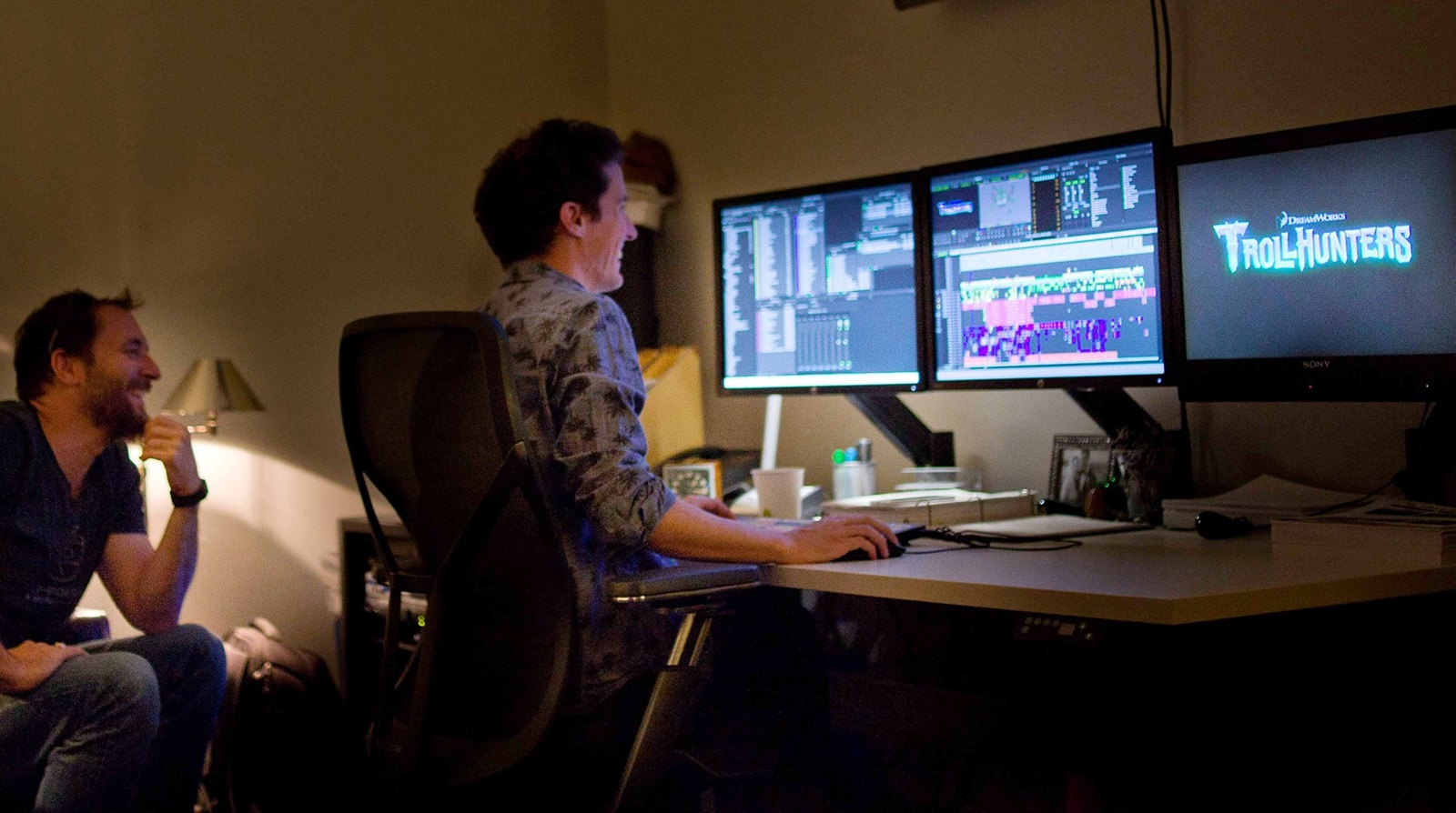 Graham Fisher a video editor using Media Composer in TV production video editing