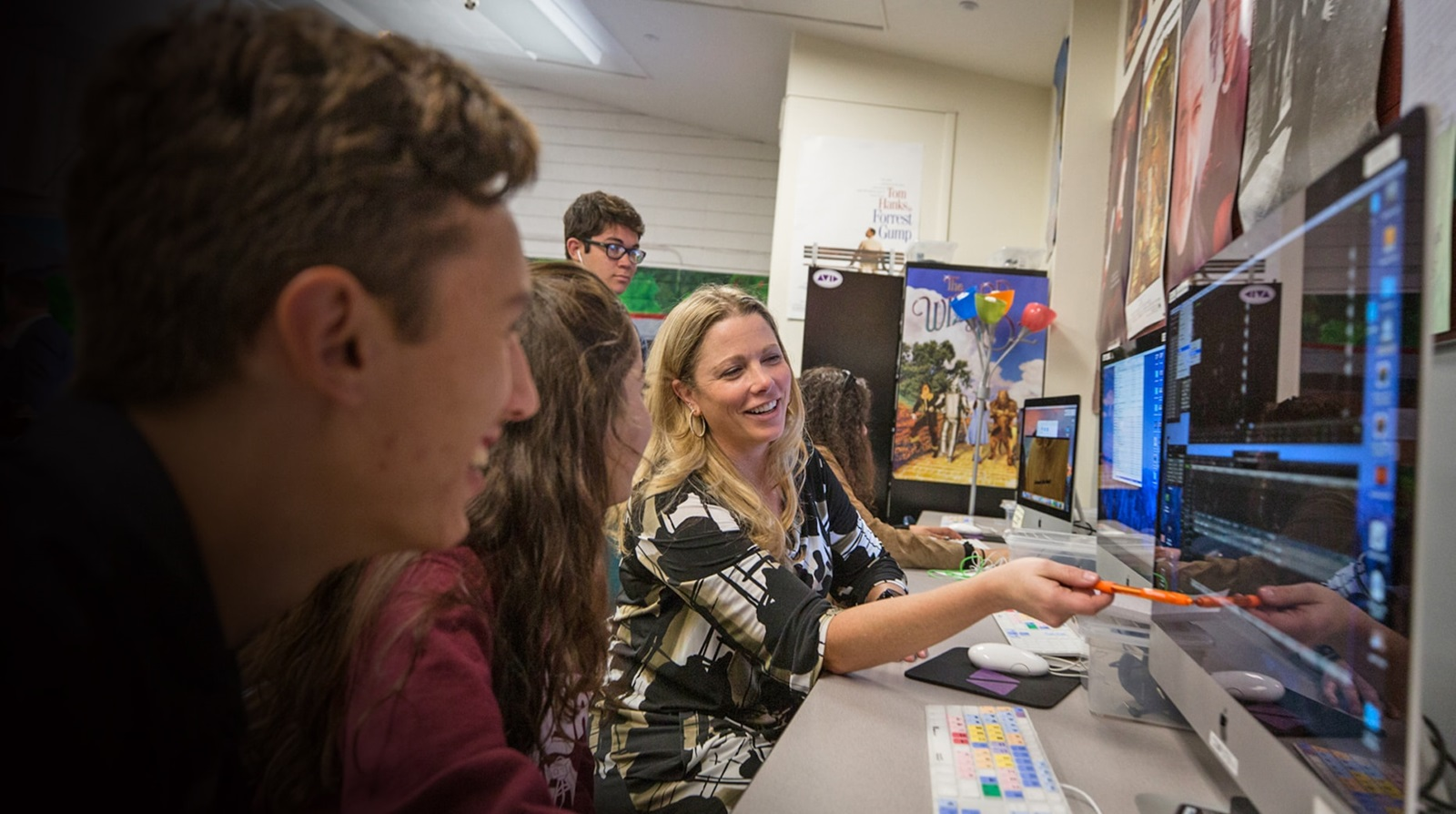 Claremont High School using Media Composer video editing software in the classroom