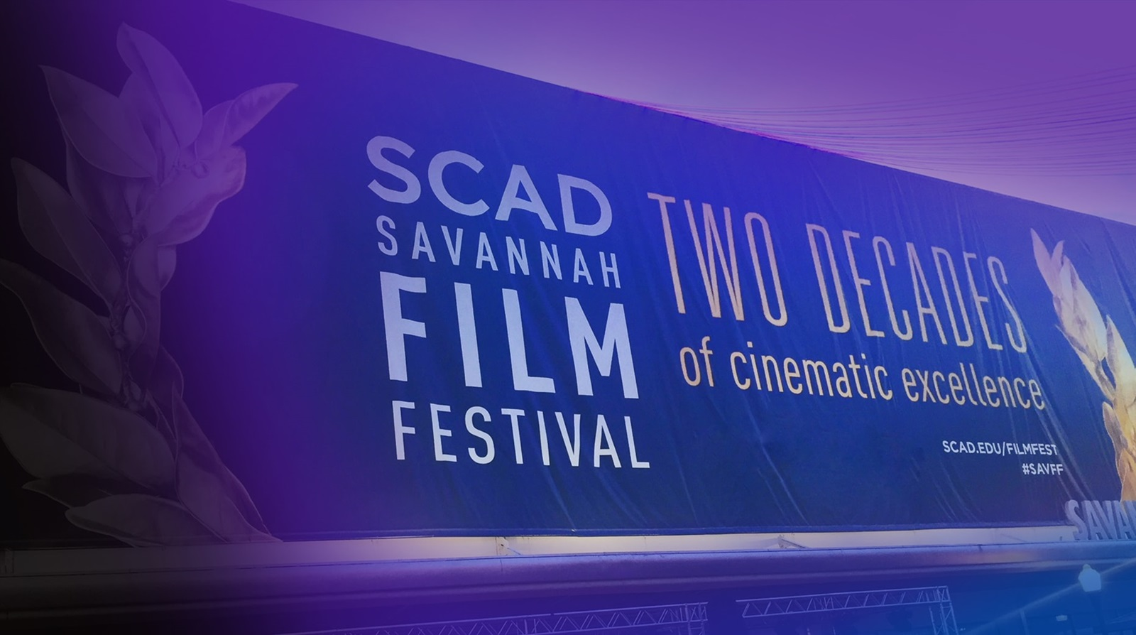 Savannah Film Festival banner hosted by SCAD