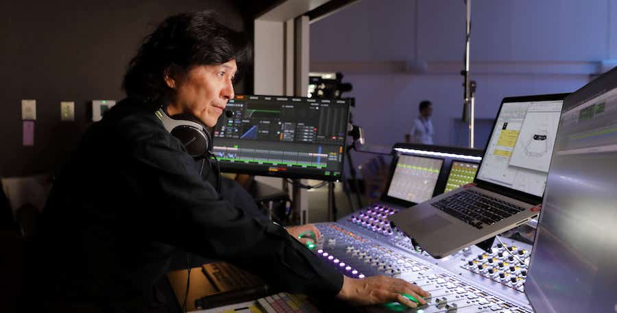 Keiichi Itoh mixing at the S6L console