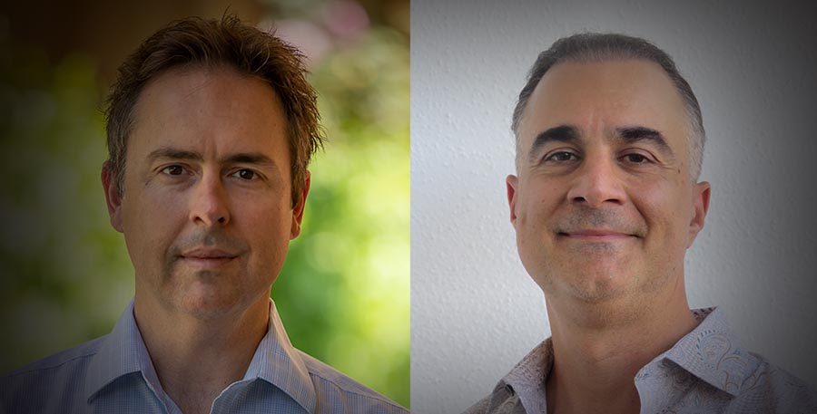 Headshots of Pixelogic's Doug Higgins (L) and Paul Karpinski (R)