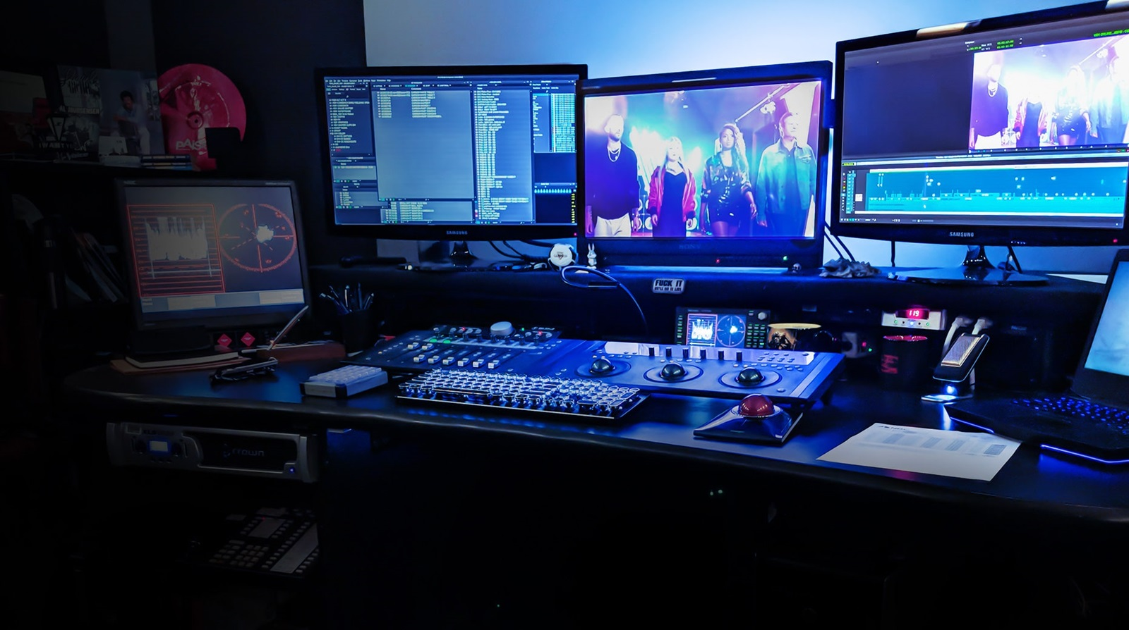 Edit bay for the Voice