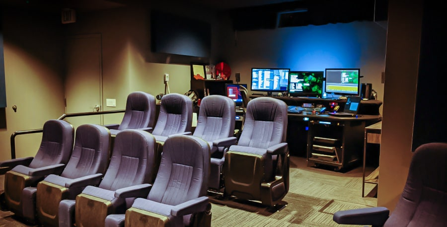 The Voice screening room