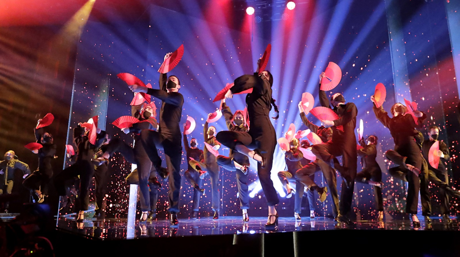 dancers on stage at the Goya Awards