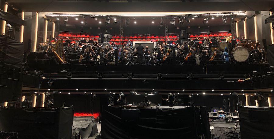 live symphony orchestra during Goya Awards