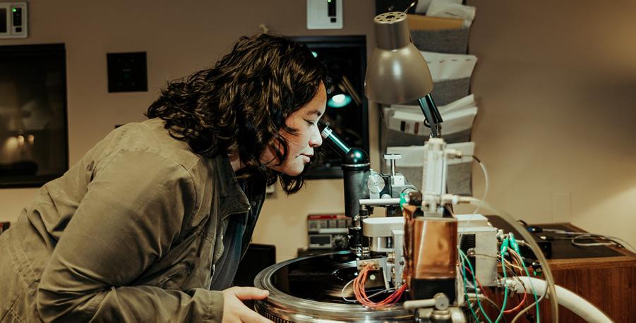 mastering engineer Jett Galindo cutting vinyl