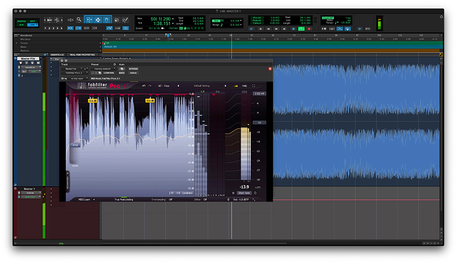 screenshot of FabFilter Pro-L 2 in Pro Tools