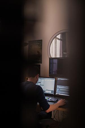 editor working at Saya Post Production