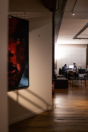 inside the office at Saya Post Production