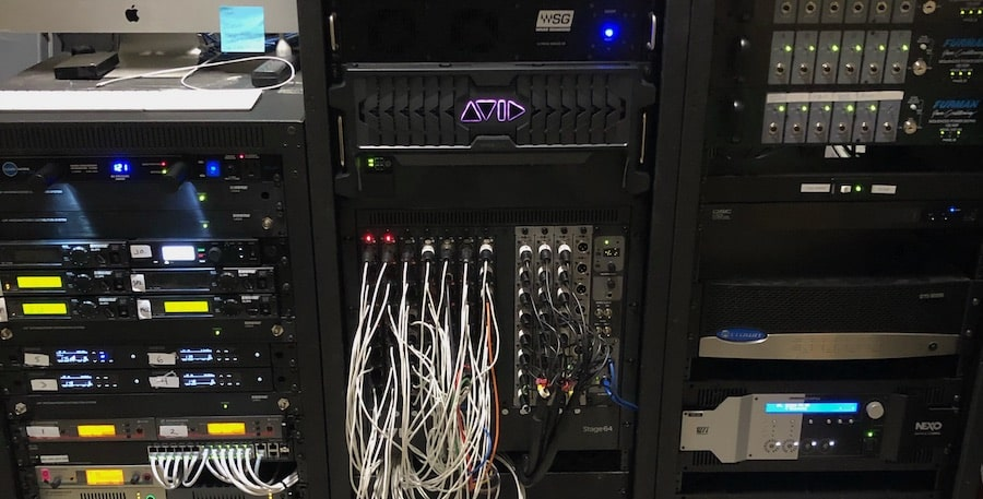 racked engine, I/O, and server at Shelter Cove Community Church