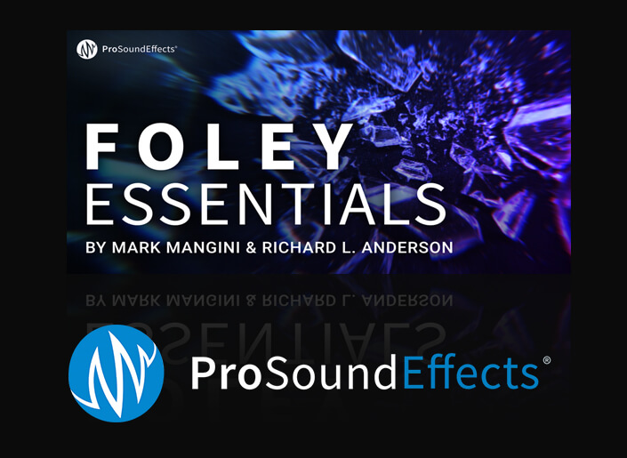 Pro Sound Effects Foley Essentials sound effects library screen