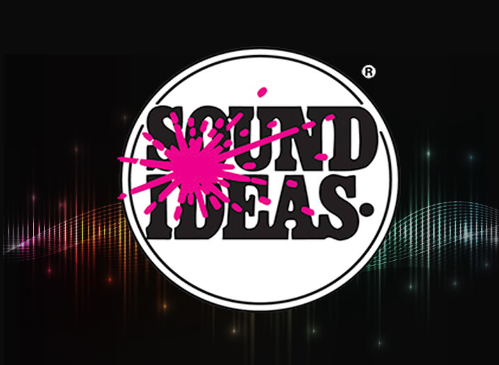 Sound Ideas logo for royalty-free music tracks