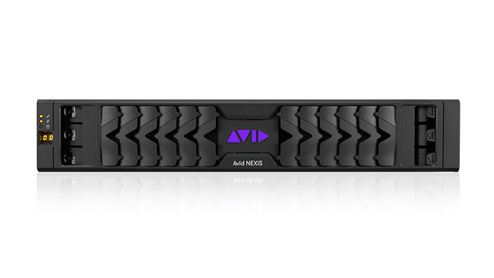 Avid NEXIS | PRO storage engine hardware front panel with purple Avid logo