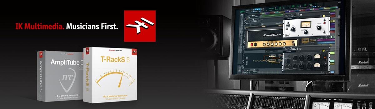 IK Multimedia banner showing Amplitube and T-RackS in Pro Tools