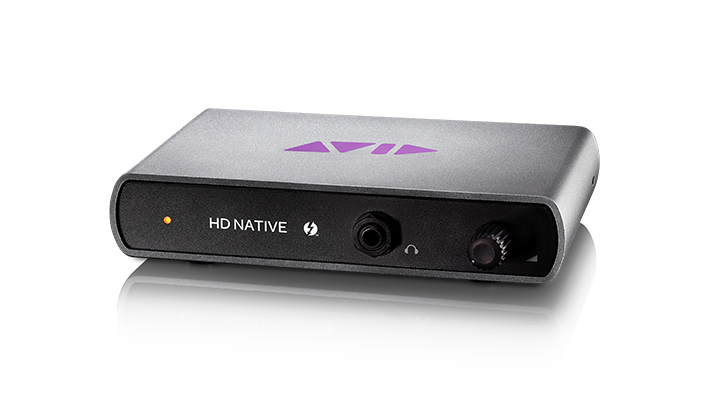 Pro Tools | HD Native system Thunderbolt interface for computer host-based music and audio production software acceleration