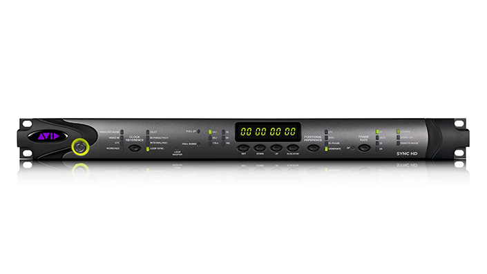 Pro Tools | SYNC HD audio interface front panel with a variety of LED signal and clock indicators
