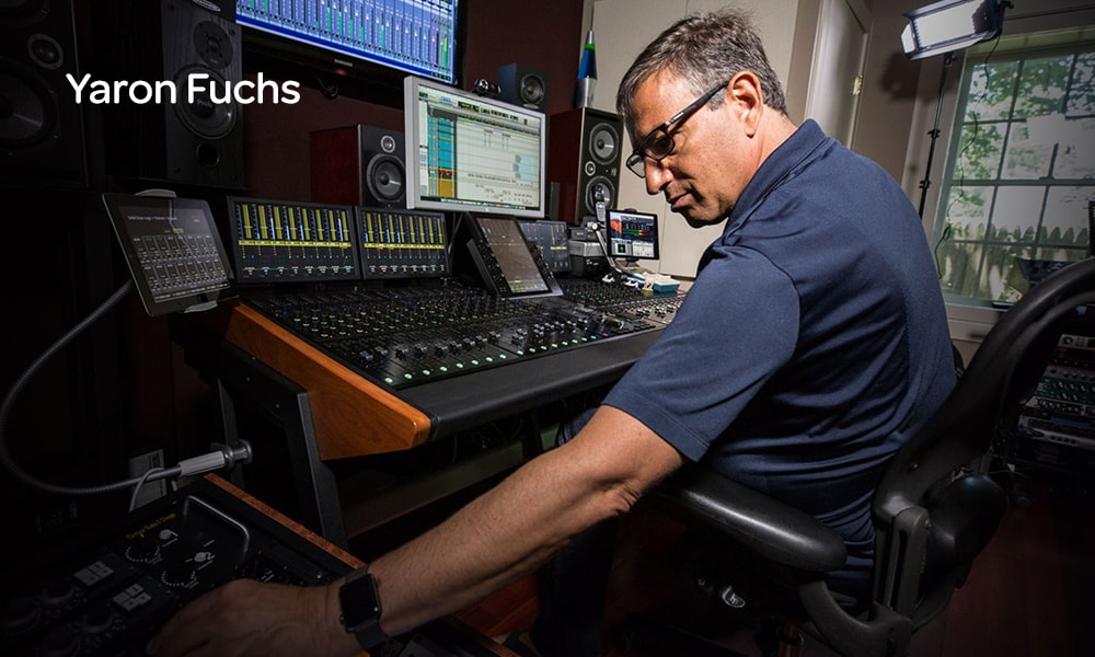 Music mixer Yaron Fuchs collaborating remotely with Pro Tools