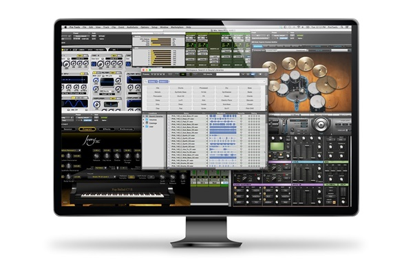 Pro Tools music software in monitor