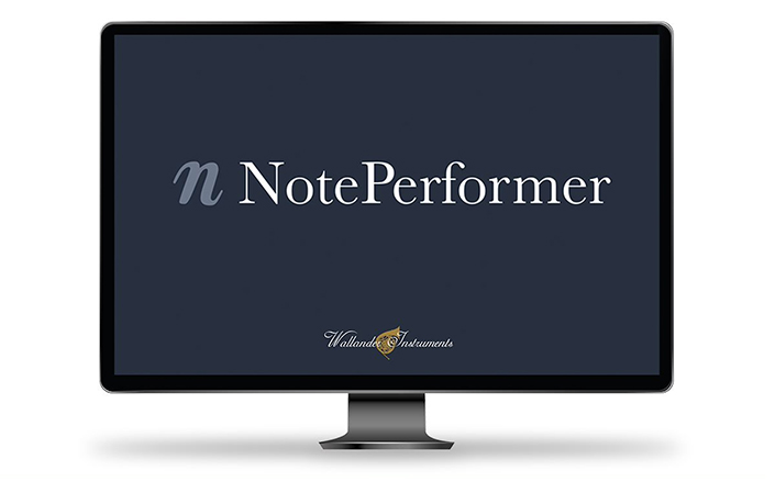NotePerformer software logo displayed on a computer monitor