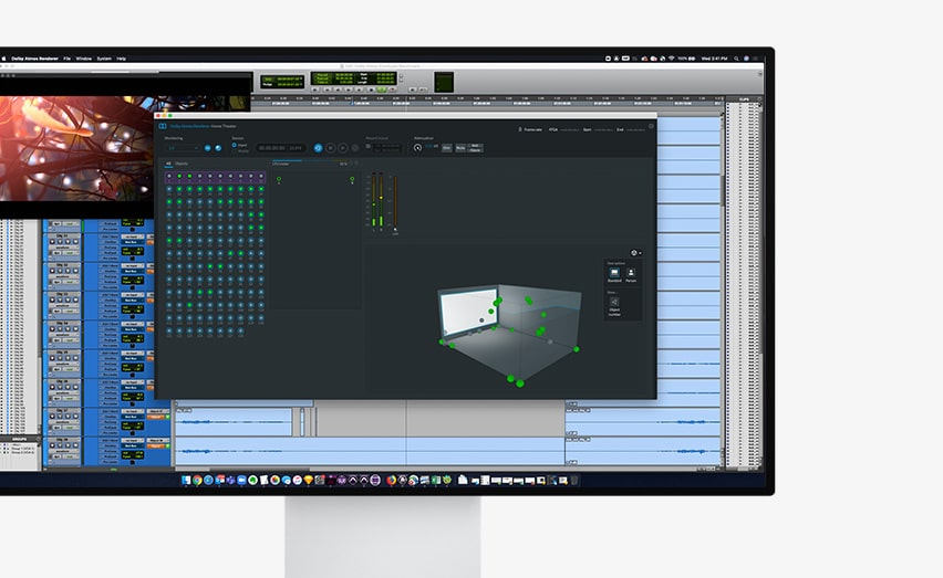Pro Tools UI Dolby Atmos in Monitor