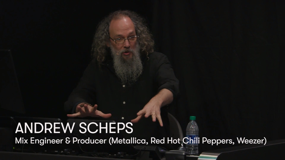 Grammy winning mix engineer and producer Andrew Scheps (Metallica, Red Hot Chili Peppers, Weezer) demonstrates his much sought-after sound, using the power of Pro Tools and the Avid S1 control surface