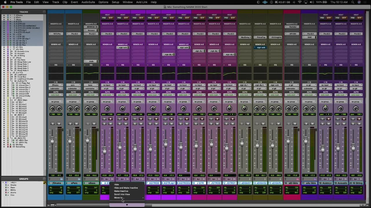 Music Production with Pro Tools UI