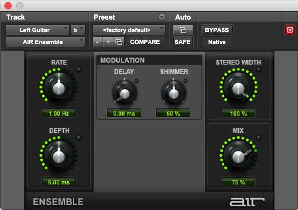 AIR Ensemble heavenly and choir effects audio plugin for Pro Tools