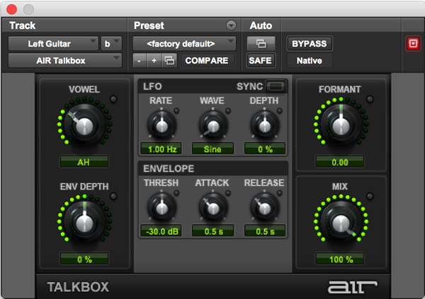 AIR Talkbox vocoder plugin