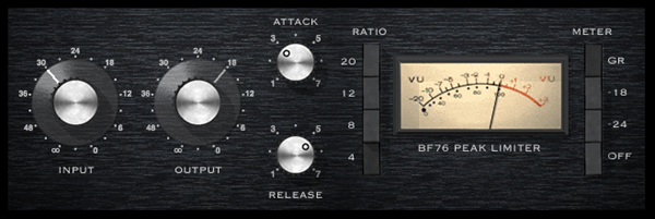 Bomb Factory BD76 compressor plugin for Pro Tools