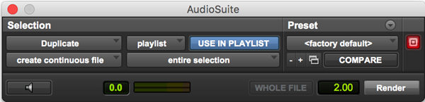 Duplicate copy audio clips plugin for Pro Tools
