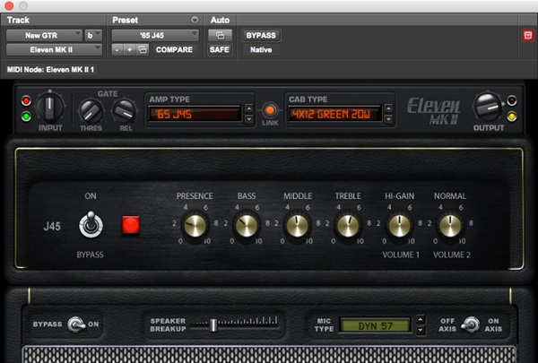 Eleven MK II guitar and bass amp plugin for Pro Tools