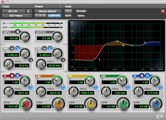 EQ III 48 bit eq plugin for audio