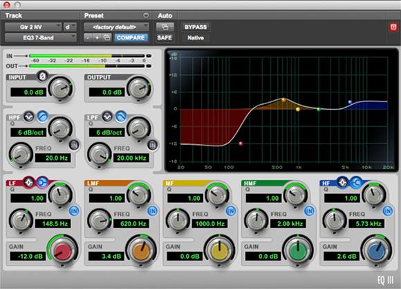 EQ III 48 bit eq plugin for audio