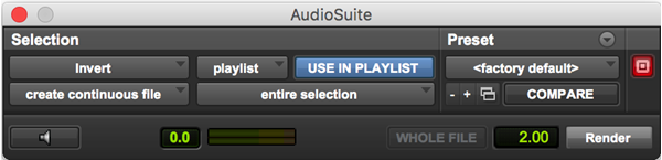 Invert frequency plugin for Pro Tools