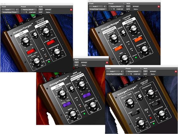 Moogerfooger audio plugins for classic effects and synth modules