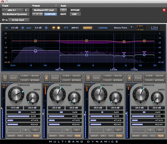 Pro Multiband Dynamics 4 frequency band plugin