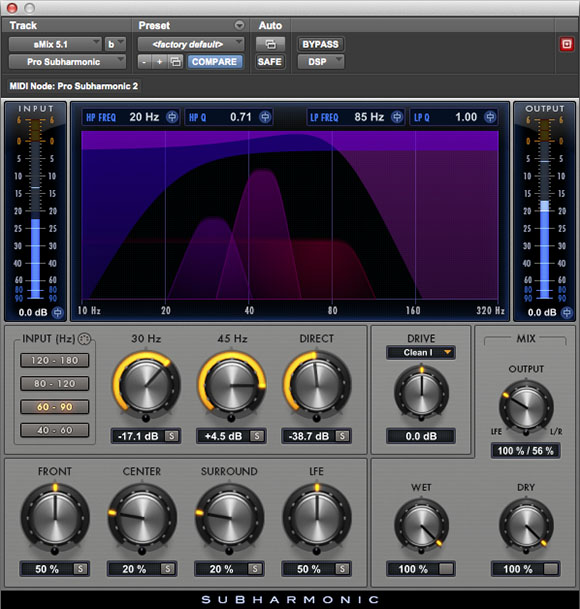 Pro Subharmonic low frequency audio plugin