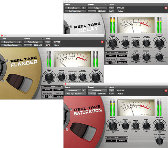 Interfaces of the Reel Tape audio analog plugin
