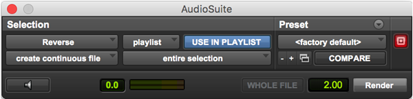 Reverse audio plugin for Pro Tools