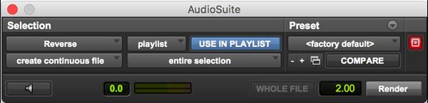 Reverse audio plugin for Pro Tools