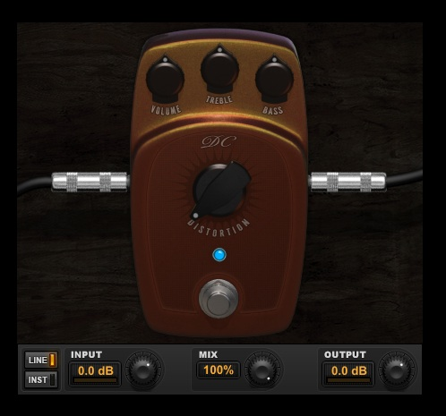DC Distortion custom audio plugin for Pro Tools