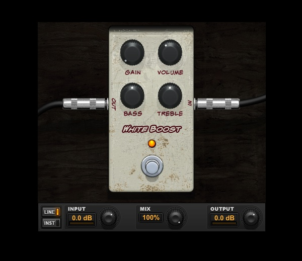 White Boost Xotic RC Booster plugin for Pro Tools