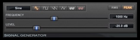 Signal Generator test tone generator plugin for Pro Tools