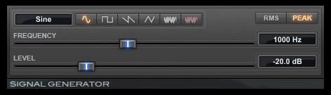 Signal Generator test tone generator plugin for Pro Tools
