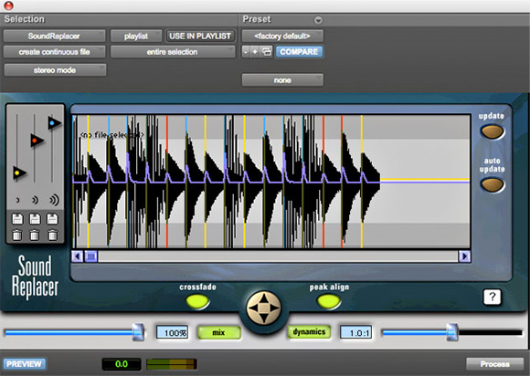 SoundReplacer audio plugin for Pro Tools