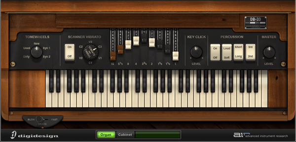AIR DB33 organ virtual instrument audio plugin for Pro Tools