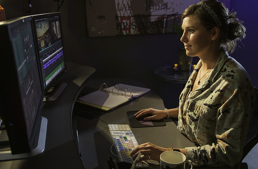 Editor happy that she has more cloud storage for video with Cloudspaces