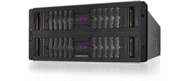 Angled front view of Avid NEXIS E5 nearline storage hardware